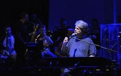 "<p>Singer Brian Wilson performs during a rehearsal of ""That Lucky Old Sun"" with a 10-piece band at the State Theatre during the Sydney Festival January 7, 2008. REUTERS/Patrick Riviere</p>"