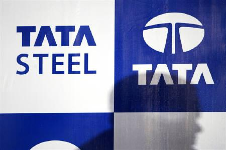 Tata Steel logo is seen in Mumbai in this May 17, 2007 file photo. REUTERS/Arko Datta/Files