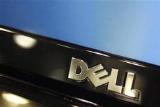<p>Dell compte acquérir la société de stockage de données 3PAR au prix de 18 dollars par action en numéraire, soit 1,15 milliard de dollars (894 millions d'euros). Ce qui a provoqué une envolée de 85% du cours de l'action 3PAR à New York. /Photo prise le 18 février 2010/REUTERS/Joshua Lott</p>