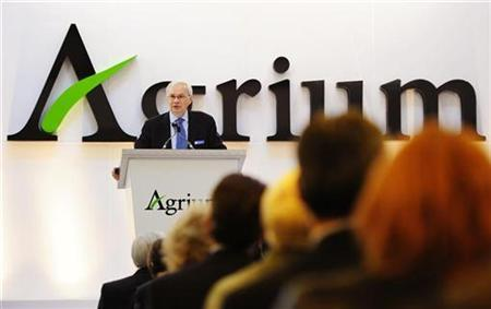 Michael Wilson, president and chief executive officer of Agrium, addresses shareholders at the company's annual general meeting in Calgary, Alberta in this May 12, 2010 file photo. REUTERS/Todd Korol