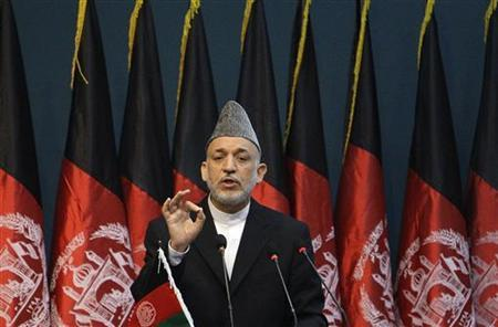 Afghan President Hamid Karzai speaks during his visit to the Civil Service Institute in Kabul August 7, 2010. REUTERS/Omar Sobhani