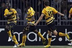 <p>Jogadores do Young Boys comemoram gol em vitória por 3 x 2 sobre o Tottenham Hotspur. REUTERS/Pascal Lauener</p>