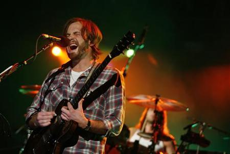 The Kings of Leon perform at the Arena Monterrey in Monterrey October 24, 2009. REUTERS/Tomas Bravo