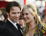 "<p>Actors Stephen Moyer and Anna Paquin from the drama series ""True Blood"" arrive at the 16th annual Screen Actors Guild Awards in Los Angeles January 23, 2010. REUTERS/Danny Moloshok</p>"