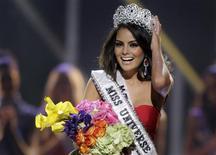 <p>Jimena Navarrete, a Miss México, reage após ser eleita Miss Universo 2010 em Las Vegas, 23 de agosto de 2010. REUTERS/Steve Marcus</p>