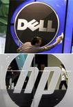 <p>Hewlett-Packard a porté son offre d'achat sur le spécialiste du stockage de données informatiques 3PAR à 1,8 milliard de dollars (1,42 milliard d'euros), 200 millions de plus que la nouvelle offre annoncée quelques heures plus tôt par Dell, engageant une nouvelle manche du bras de fer entamé la semaine dernière. /REUTERS/Thomas Peter/Paul Yeung</p>