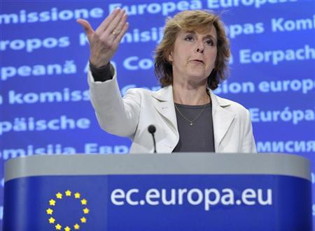 European climate commissioner Connie Hedegaard speaks at a news conference at the EC headquarters in Brussels May 26, 2010. REUTERS/Eric Vidal