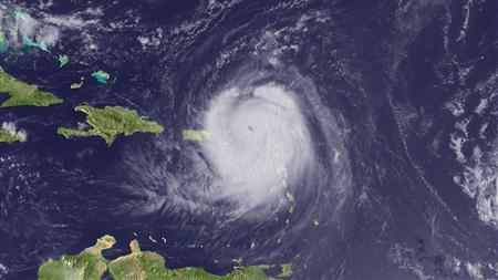 Hurricane Earl in a satellite image taken August 30, 2010. REUTERS/NOAA