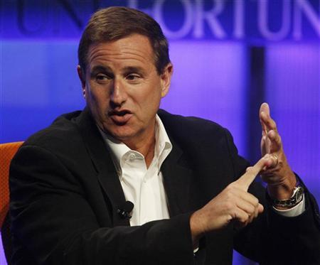 Mark Hurd, chairman, CEO and president of HP speaks at the Fortune Brainstorm Tech conference in Pasadena, California, in this July 24, 2009 file photo. REUTERS/Fred Prouser/Files