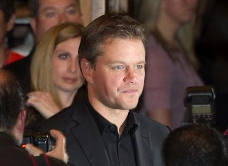 Actor Matt Damon arrives at the gala presentation for the film 'Hereafter' during the 35th Toronto International Film Festival, September 12, 2010. REUTERS/Fred Thornhill