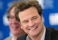 """<p>O ator Colin Firth em coletiva de imprensa para promover o filme """"The King's Speech"""" no Festival Internacional de Cinema de Toronto, 11 de setembro de 2010. """"The King's Speech"""" foi o grande vencedor do festival. REUTERS/Fred Thornhill</p>"""