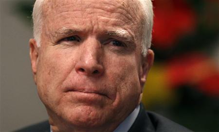 Senator John McCain (R- AZ) speaks at the Reuters Washington Summit September 20, 2010.REUTERS/Kevin Lamarque