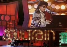 "<p>Singer Little Richard performs a musical tribute to producer Don Cornelius creator and producer of the television music show ""Soul Train"" at the 3rd annual TV Land Awards in Santa Monica, California March 13, 2005. REUTERS/Fred Prouser</p>"