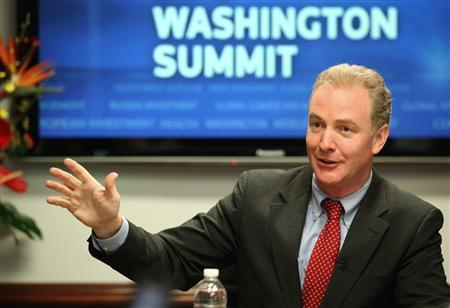 Rep. Chris Van Hollen (D-MD), Democratic Congressional Campaign Committee Chairman, speaks during the Reuters Washington Summit in Washington September 22, 2010. REUTERS/Molly Riley