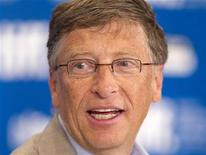 "<p>Bill Gates attends a news conference to promote the film ""Waiting For Superman"" during the 35th Toronto International Film Festival September 11, 2010. REUTERS/Fred Thornhill</p>"