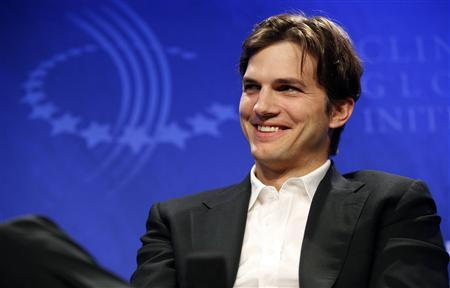 Ashton Kutcher participates in a panel discussion titled ''Democracy and Voice: Technology For Citizen Empowerment and Human Rights,'' at the Clinton Global Initiative in New York, September 23, 2010. REUTERS/Chip East