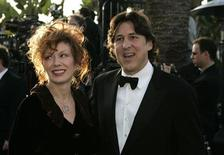 <p>Nancy Wilson and husband Cameron Crowe arrive at the 2005 Vanity Fair Oscar Party at Mortons in West Hollywood. REUTERS/Kimberly White</p>