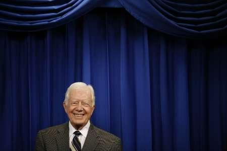 Former President Jimmy Carter in Santo Domingo, October 8, 2009. REUTERS/Eduardo Munoz