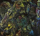 """<p>Foto de divulgação sem data mostra a obra """"Bestiaire et Musique"""", de Marc Chagall. Uma obra do mestre modernista Marc Chagall se tornou a pintura contemporânea mais cara a ser vendida na Ásia, ao ser leiloado por 4,18 milhões de dólares em Hong Kong. 5 de outubro de 2010. REUTERS/Divulgação</p>"""
