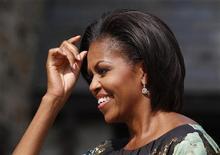<p>Мишель Обама на специальной встрече в Вестчестере, Нью-Йорк, 24 сентября 2010 года. Первая леди США Мишель Обама возглавила рейтинг самых влиятельных женщин, опередив глав государств, руководителей крупных компаний и звезд шоу-бизнеса. REUTERS/Jessica Rinaldi</p>