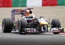 <p>Sebastian Vettel, da Red Bull, durante treino livre para o GP do Japão de F1. 08/10/2010 REUTERS/Toru Hanai</p>
