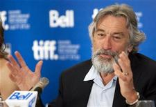 <p>Actor Robert De Niro speaks during a press conference to promote the film Stone during the 35th Toronto International Film Festival September 10, 2010. REUTERS/Fred Thornhill</p>