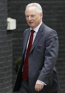 Minister for the Cabinet Office, Paymaster General, Francis Maude arrives at the 10 Downing Street official residence of Prime Minister David Cameron in London May 12, 2010. REUTERS/Suzanne Plunkett