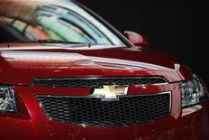 <p>Chevrolet unveils its 2011 Cruze at the New York International Auto Show in New York March 31, 2010. REUTERS/Jessica Rinaldi</p>