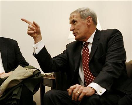 Dan Coats is seen on Capitol Hill in Washington January 19, 2006. REUTERS/Joshua Roberts