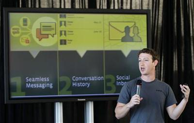 Facebook takes on Google and Yahoo in Web messages