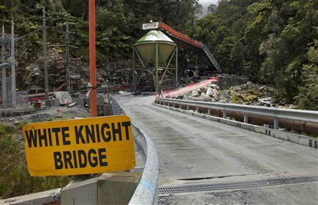 A view of the entrance to the Pike River Coal mine, where 29 workers are trapped inside after an explosion on Friday afternoon, November 21, 2010. REUTERS/Simon Baker/Pool