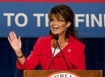 <p>Former Alaska governor Sarah Palin in Orlando, Florida October 23, 2010. REUTERS/Scott Audette</p>