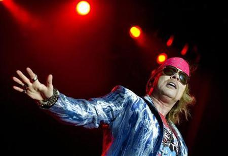 Axl Rose of Guns N' Roses performs during the Sweden Rock Festival 2010 in Solvesborg, Sweden, June 12, 2010. REUTERS/Claudio Bresciani/Scanpix Sweden