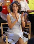 "<p>Jennifer Grey no programa ""Good Morning America"" da ABC em Nova York. Grey venceu o concurso ""Dançando com as Estrelas"", e Bristol Palin, terminou em terceiro lugar. 24/11/2010 REUTERS/Brendan McDermid</p>"