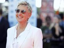 "<p>Judge Ellen DeGeneres arrives for the 9th season finale of ""American Idol"" in Los Angeles May 26, 2010. REUTERS/Mario Anzuoni</p>"