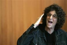<p>Radio personality Howard Stern speaks during a news conference in New York February 28, 2006. REUTERS/Brendan McDermid</p>
