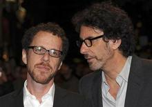 "<p>Directors Ethan (L) and Joel Coen pose for photographers as they arrive at the gala premiere of ""A Serious Man"" during the London Film Festival in Leicester Square October 27, 2009. REUTERS/Jas Lehal</p>"