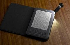 <p>The Amazon Kindle e-book reader is shown in this undated publicity photo released to Reuters July 28, 2010. REUTERS/Amazon.com/Handout</p>