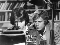 "<p>A scene from the 1976 film ""All the President's Men"" with Dustin Hoffman (L) and Robert Redford is shown in this undated publicity photo. REUTERS/Warner Home Video/Library of Congress/Handout</p>"