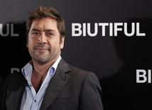 """<p>Javier Bardem em coletiva de imprensa para promover o filme """"Biutiful"""" em Madri. 29/11/2010 REUTERS/Andrea Comas/Arquivo</p>"""