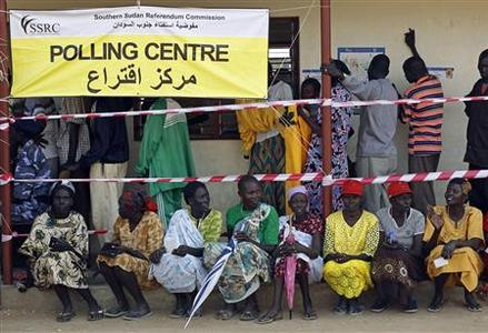 South Sudanese wait to vote at a polling station during the referendum in Juba, south Sudan January 9, 2011. REUTERS/Goran Tomasevic
