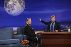 "<p>Conan O'Brien and Andy Richter during the premiere of ""Conan"" on TBS at the Warner Bros. Studios in Burbank, November 8, 2010. REUTERS/TBS/Handout</p>"