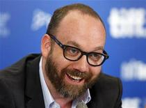 "<p>Paul Giamatti smiles during the news conference for the film ""Barney's Version"" at the 35th Toronto International Film Festival September 12, 2010. REUTERS/Mike Cassese</p>"