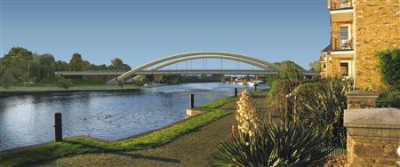 An image of the Walton bridge is seen in this handout photo.