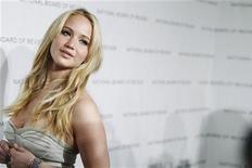"""<p>Jennifer Lawrence, do filme """"Inverno da Alma"""", na cerimônia de entrega dos prêmios da National Board of Review of Motion Pictures, em Nova York. 11/01/2011 REUTERS/Lucas Jackson</p>"""