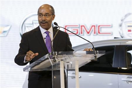 General Motors Vice President of Global Design, Ed Welburn, delivers the keynote address to begin the Washington D.C. Auto Show in Washington, January 27, 2011. REUTERS/Mark Finkenstaedt/Chevrolet/Handout