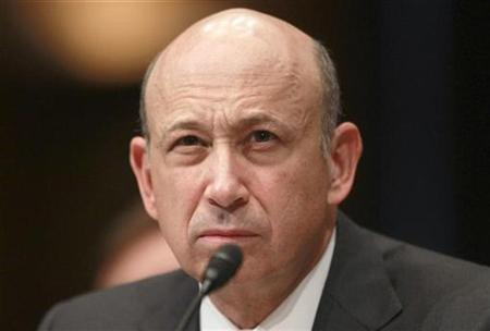 Goldman Sachs Chairman and CEO Lloyd Blankfein testifies before the Senate Homeland Security and Governmental Affairs Investigations Subcommittee hearing on ''Wall Street and the Financial Crisis: The Role of Investment Banks'' on Capitol Hill in Washington April 27, 2010. REUTERS/Jason Reed