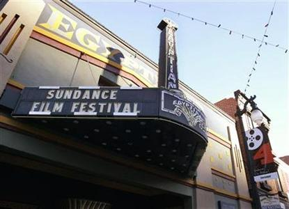 The Egyptian theater, one of the film venues for the 2004 Sundance Film Festival is pictured January 14, 2004. REUTERS/Fred Prouser
