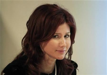 Former Russian spy Anna Chapman is seen after a meeting of the commission on economic modernization and technological development of the Russian economy, at the Skolkovo Innovation Centre outside Moscow December 14, 2010. REUTERS/Sergei Karpukhin