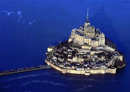 Aerial view of France's Mont-Saint-Michel is seen in this undated photo. REUTERS/Stringer